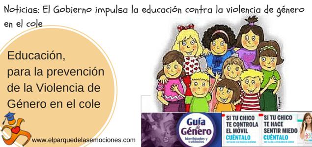 Educación, para la prevención de la Violencia de Género en el cole
