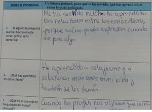 Evaluacion alumno clase educacion emocional en el aula